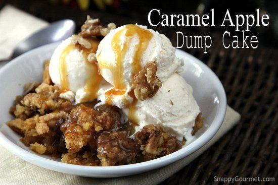 Apple Dump Cake Recipe  Caramel Apple Dump Cake Recipe Snappy Gourmet