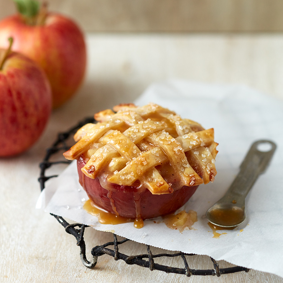 Apple Pie Bake Time  These Mini Apple Pies Baked in an Apple Make Us Want All