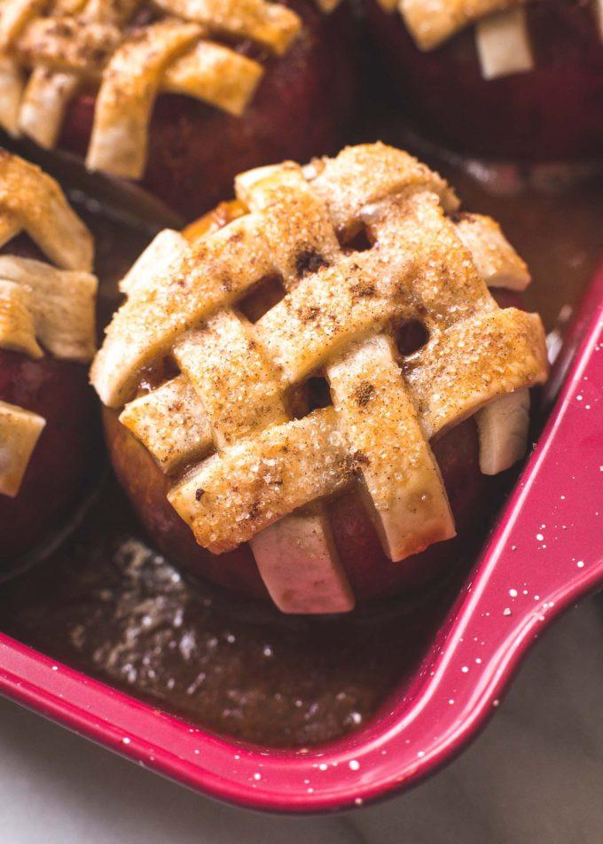 Apple Pie Bake Time  Caramel Apple Pie Baked in an Apple