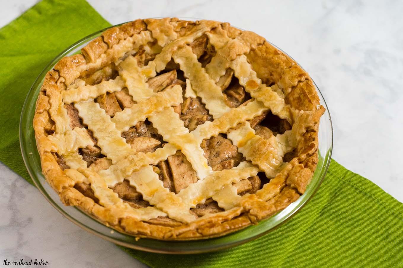 Apple Pie Bake Time  Salted caramel apple pie with a beautiful lattice crust is