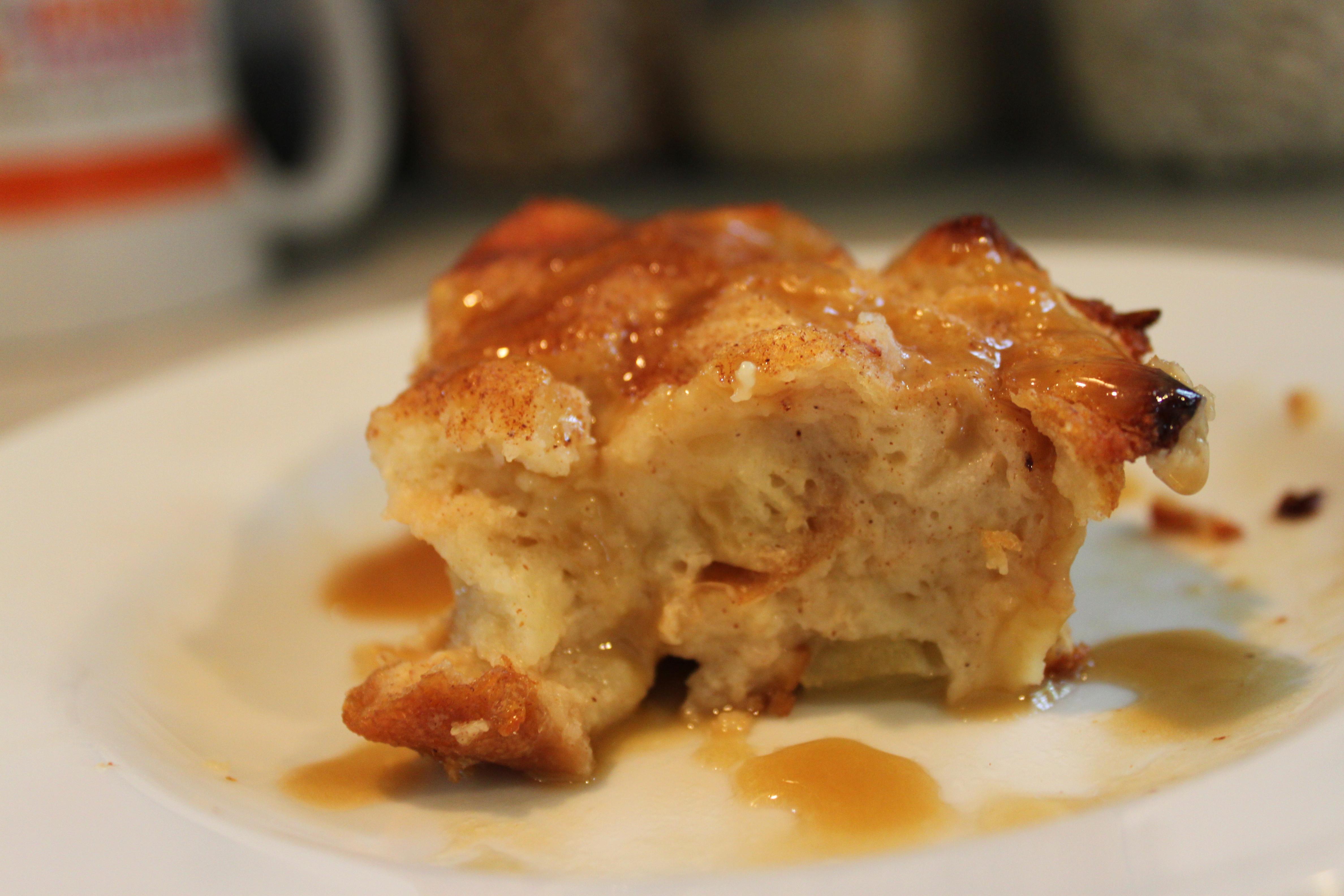 Apple Pie Bread Pudding  Light Apple Pie Bread Pudding