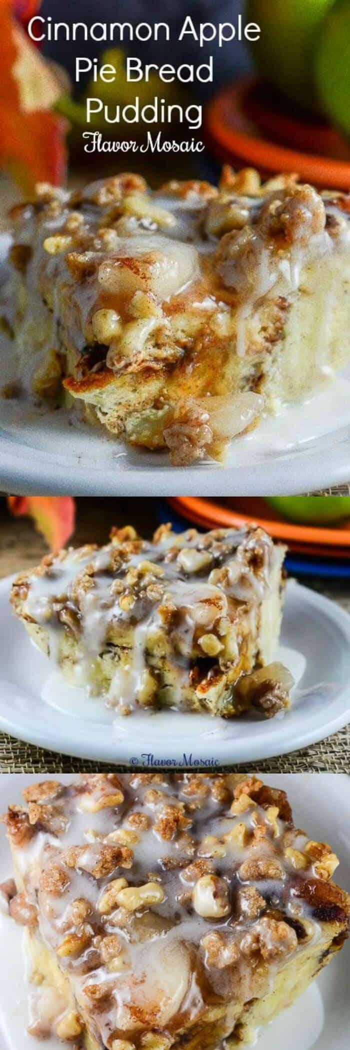 Apple Pie Bread Pudding  Cinnamon Apple Pie Bread Pudding Flavor Mosaic