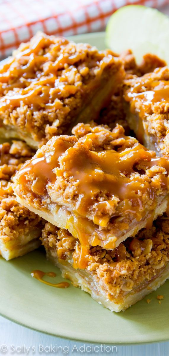 Apple Pie Dessert  Salted Caramel Apple Pie Bars Recipe