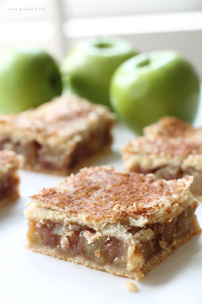 Apple Pie Dessert  Apple Pie Bars Love Grows Wild