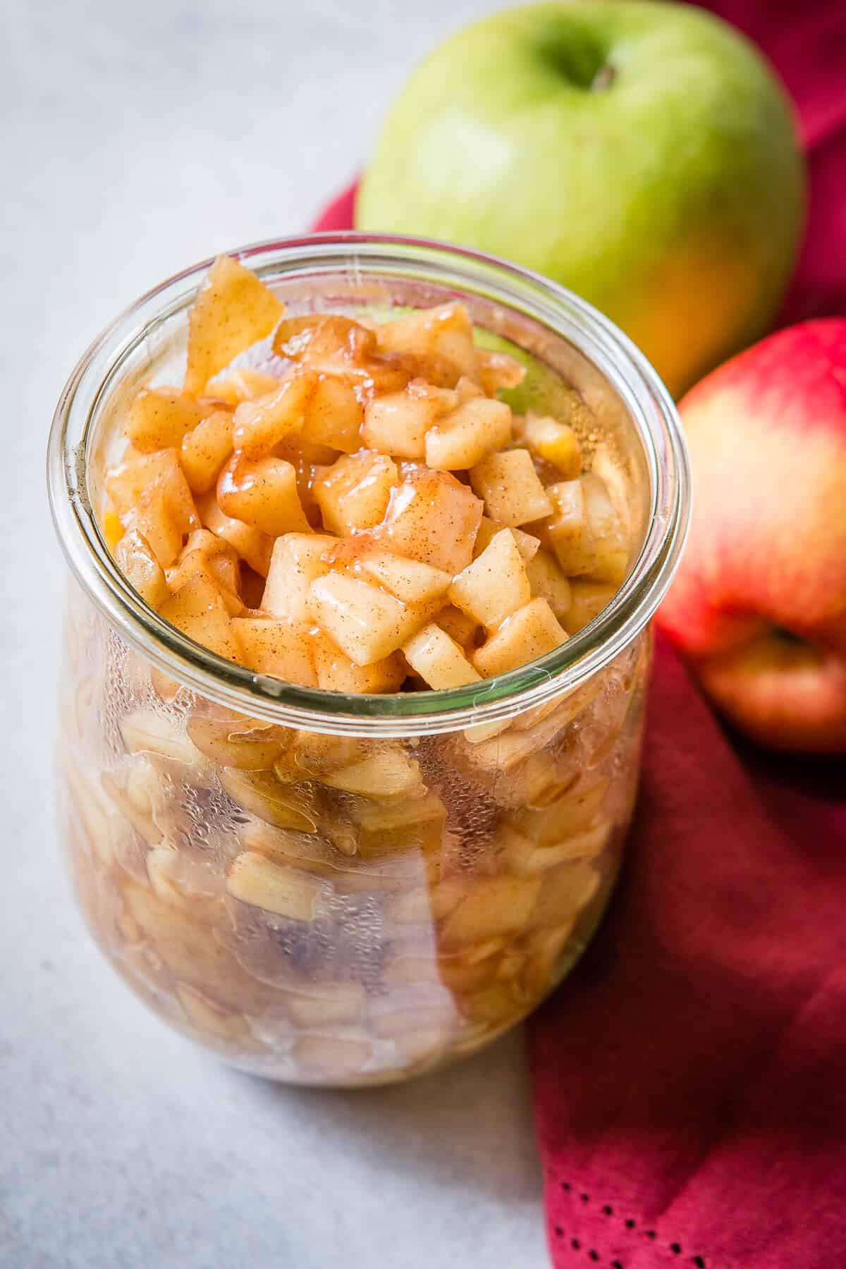 Apple Pie Filling  Easy Homemade Apple Pie Filling Oh Sweet Basil