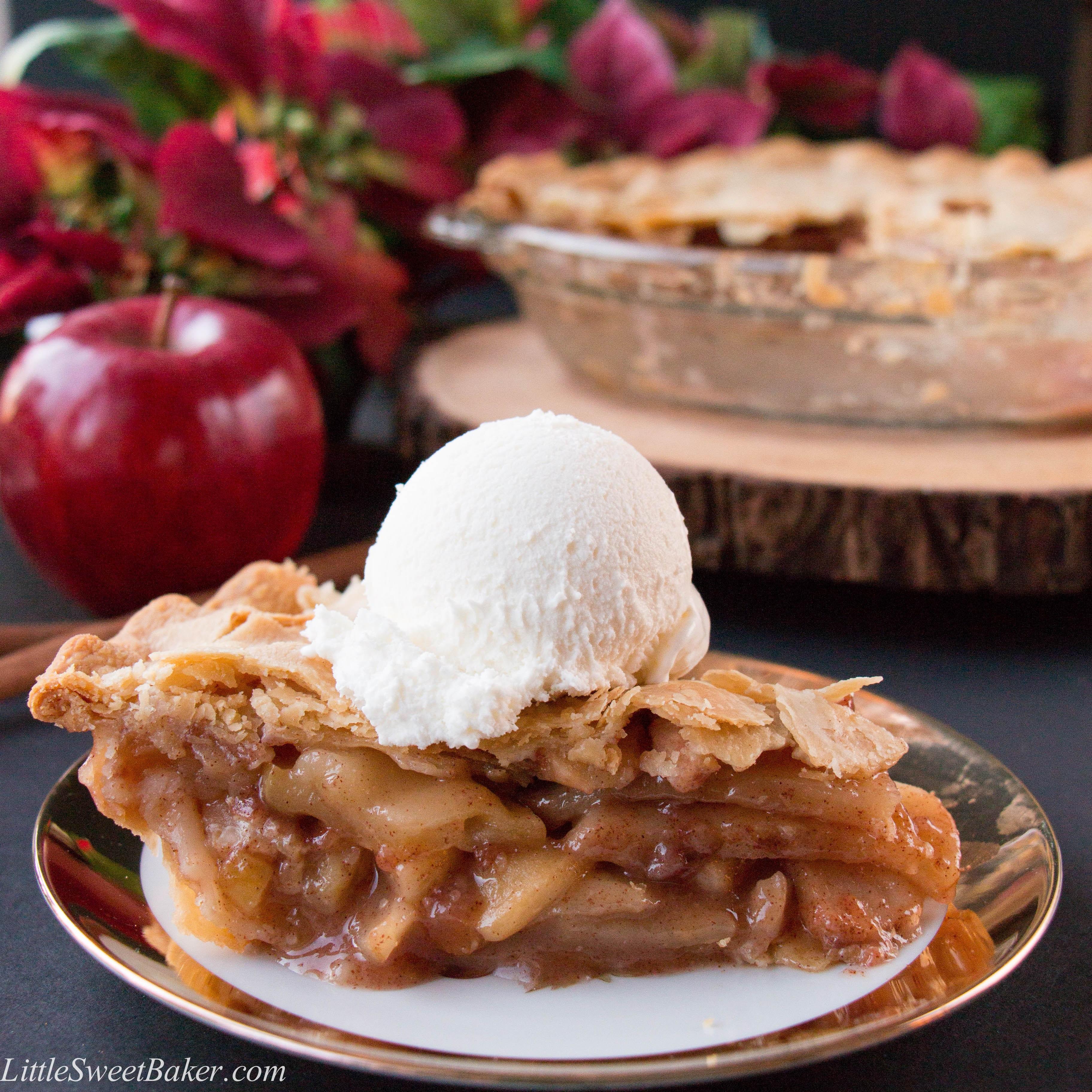 Apple Pie Ingredients  Easy Homemade Apple Pie video Little Sweet Baker