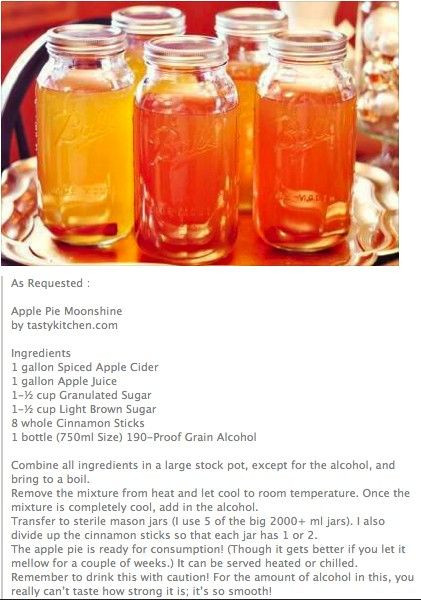 Apple Pie Moonshine Recipe  17 Best images about moonshine on Pinterest