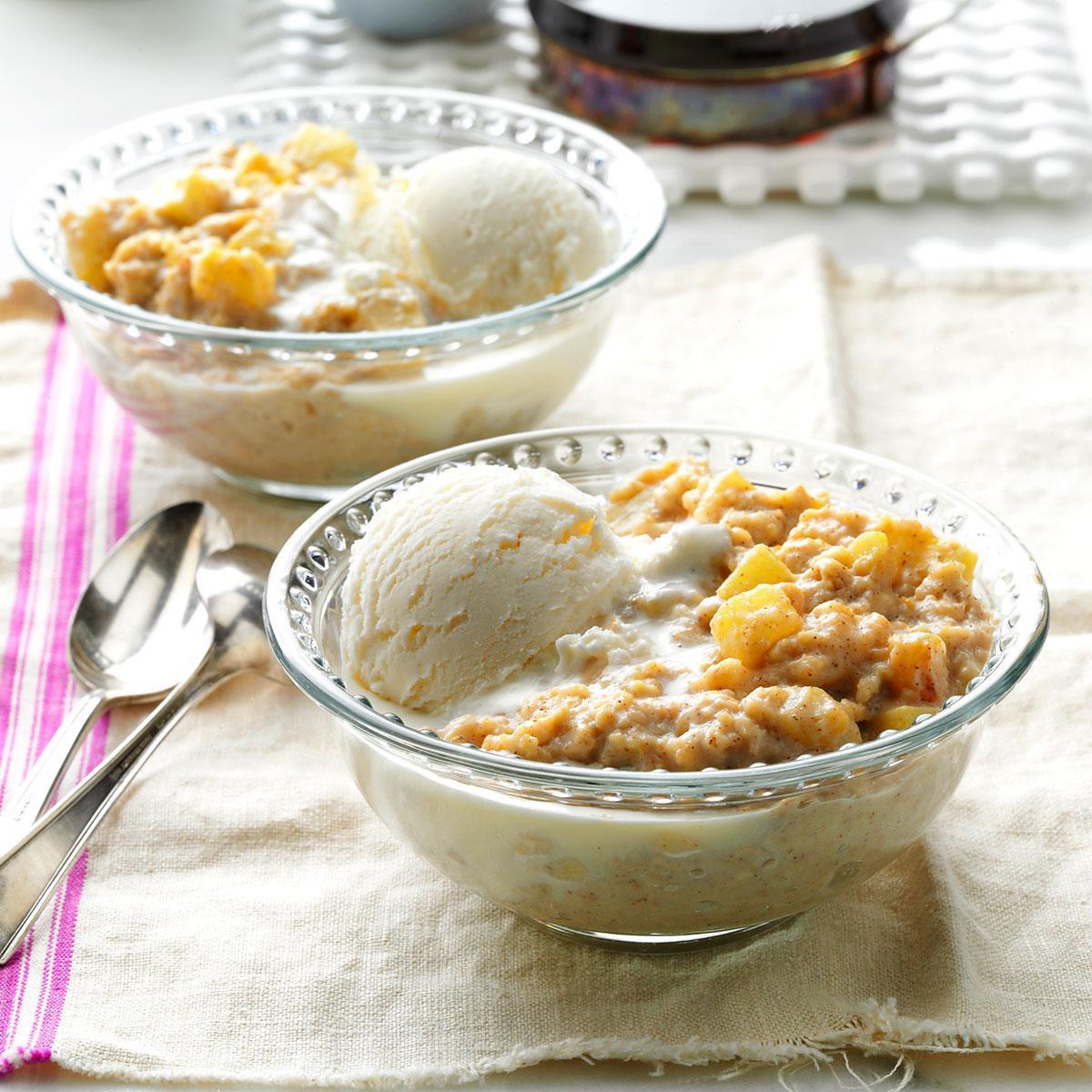 Apple Pie Oatmeal  Apple Pie Oatmeal Dessert Recipe
