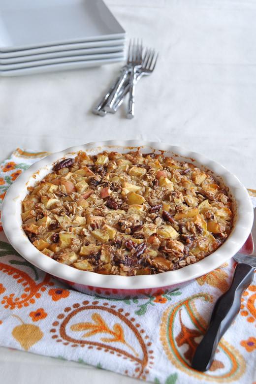 Apple Pie Oatmeal  Apple Pie Baked Oatmeal Nutritious Eats