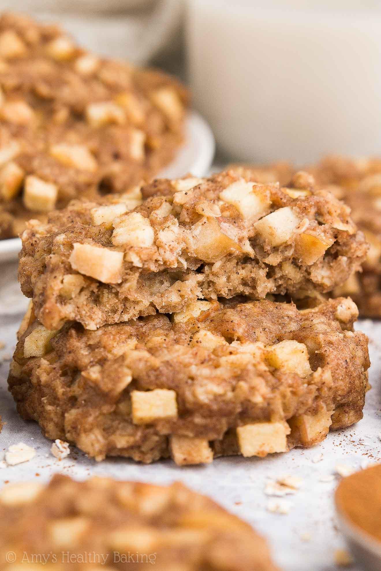 Apple Pie Oatmeal  Healthy Apple Pie Oatmeal Breakfast Cookies