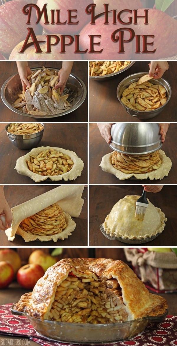 Apple Pie Recipe Food Network  Mile High Apple Pie SugarHero