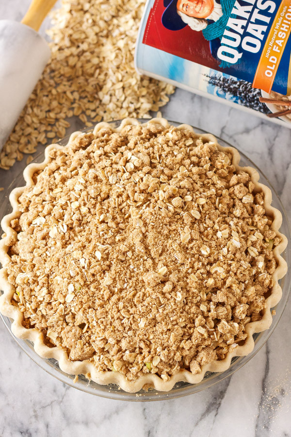 Apple Pie Topping  apple pie crumble topping with oats