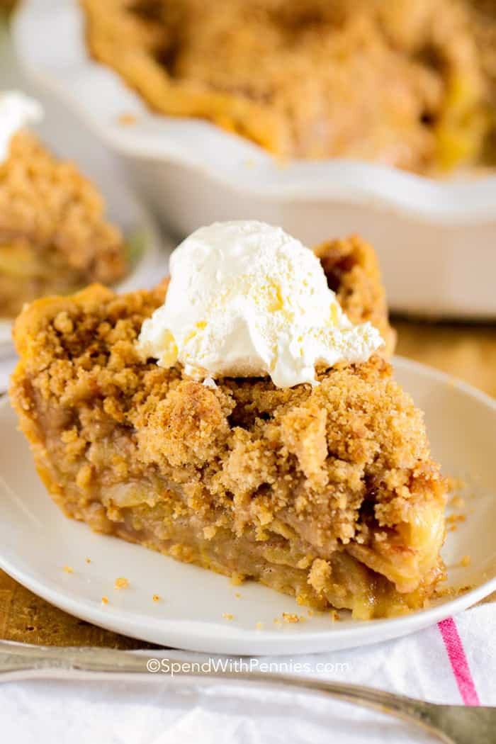 Apple Pie Topping  The Best Apple Crumb Pie Ever Spend With Pennies