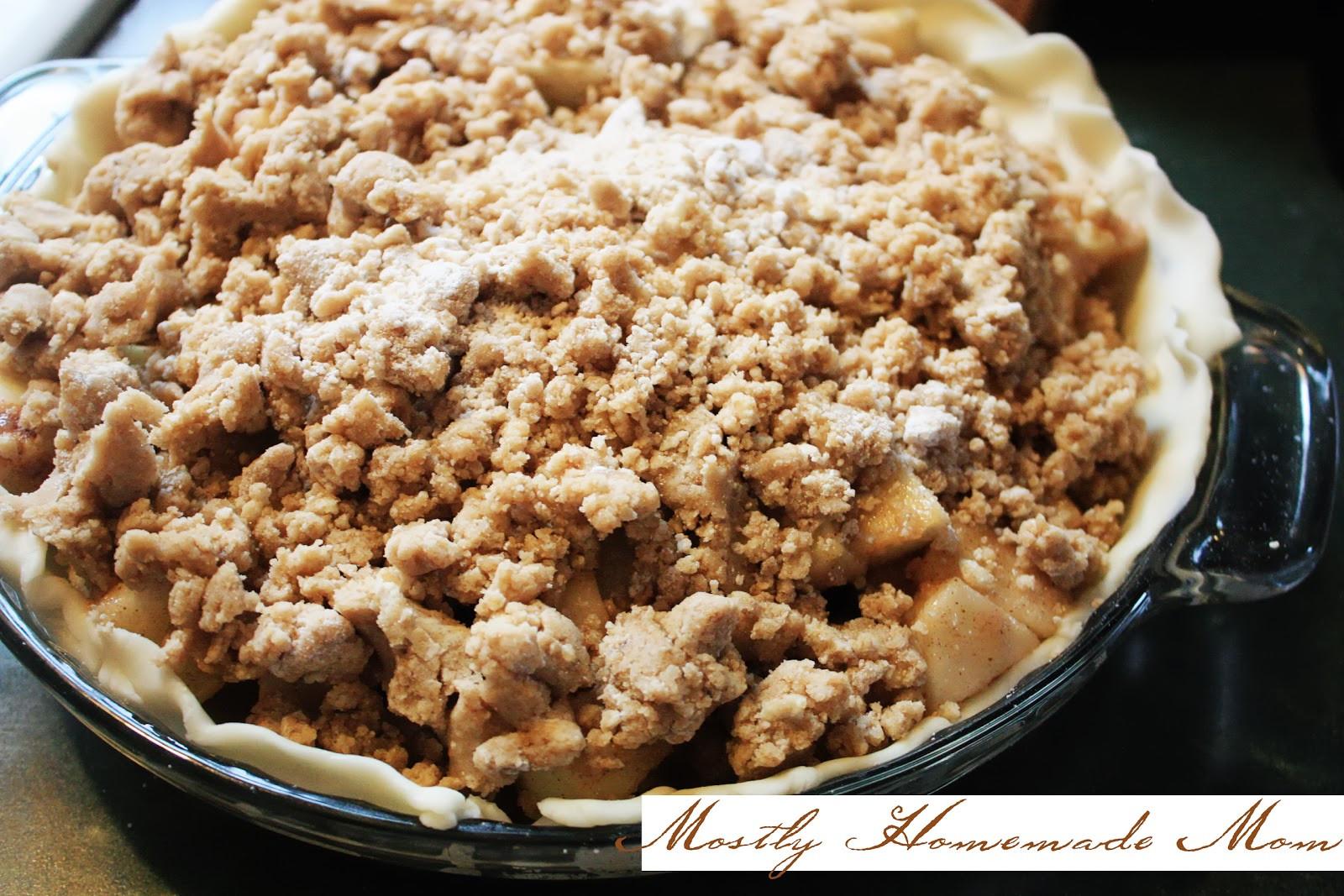 Apple Pie Topping  Pastor s Wife Apple Crumb Pie Crazy Cooking Challenge