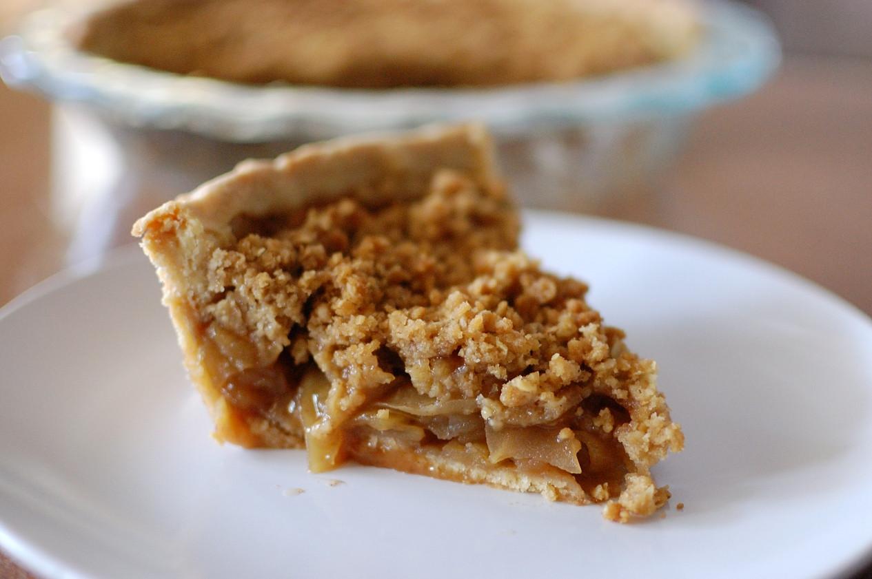 Apple Pie Topping  Apple Crumb Pie Recipe — Dishmaps