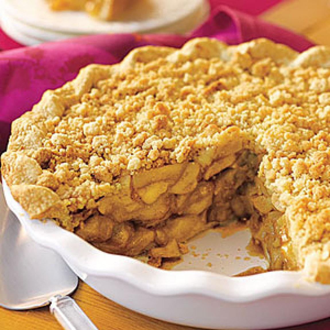 Apple Pie Topping  Crumb Topped Apple Pie Recipe