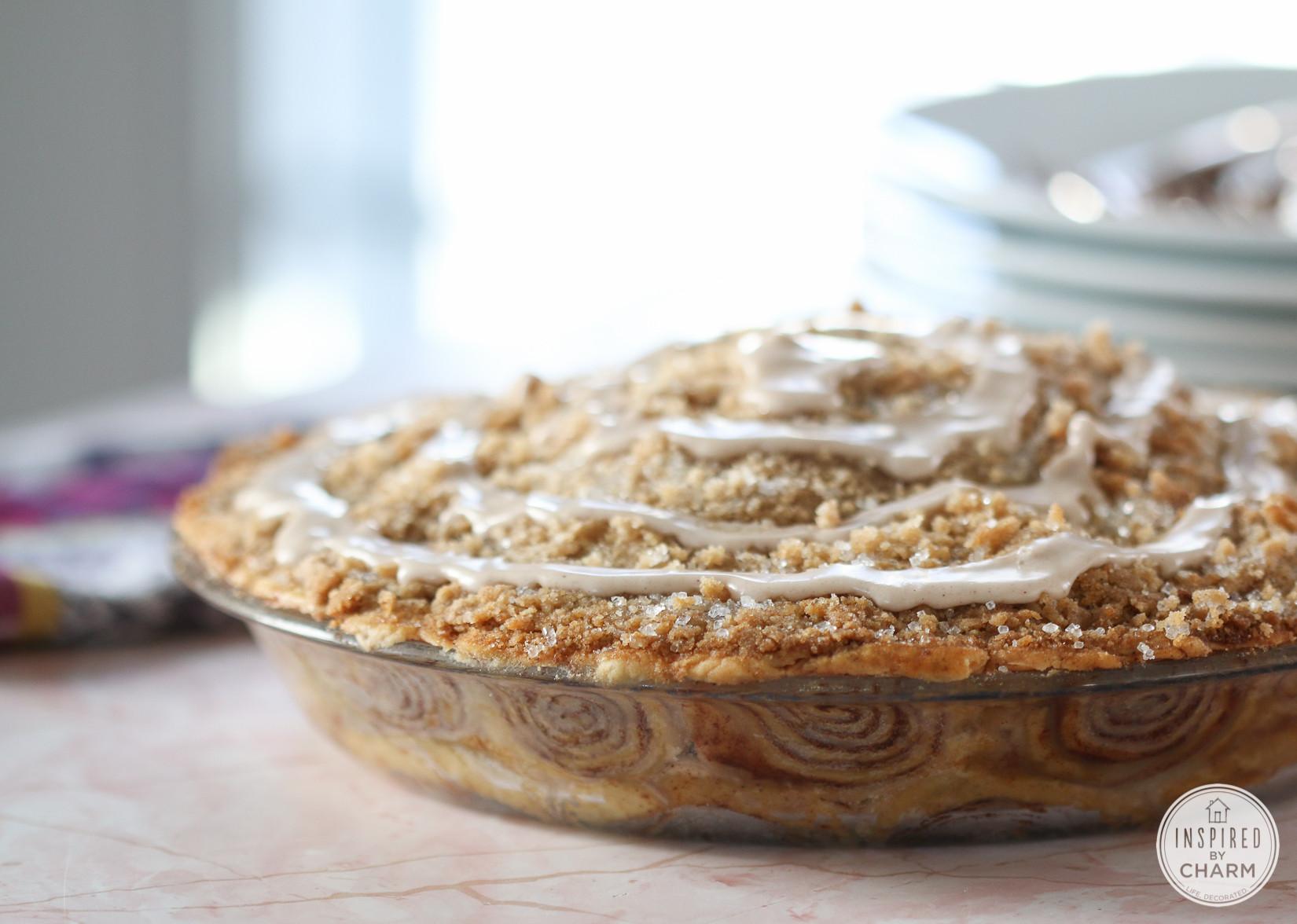 Apple Pie With Cinnamon Roll Crust  Cinnamon Roll Apple Pie classic apple pie with a