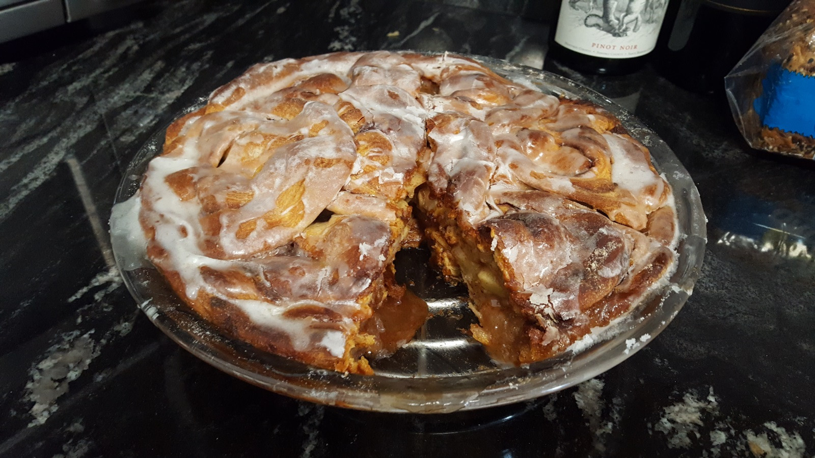 Apple Pie With Cinnamon Roll Crust  Breakfast at IHOP Mail lists Potluck supper Dave