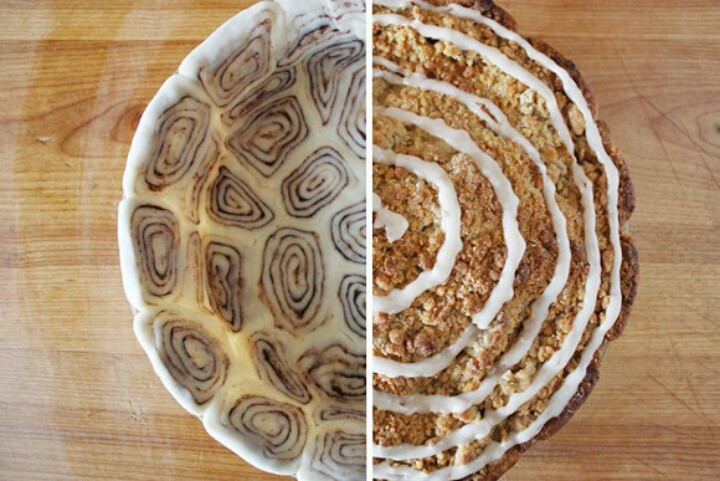 Apple Pie With Cinnamon Roll Crust  Apple Pie with Cinnamon Roll Crust We re Calling Shenanigans