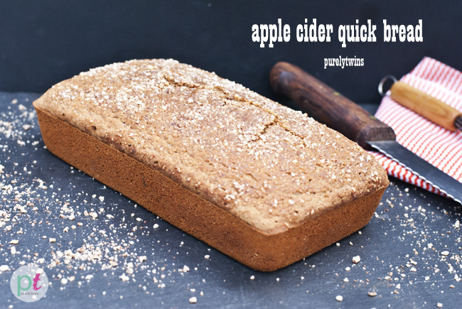 Apple Quick Bread  apple cider quick bread loaf