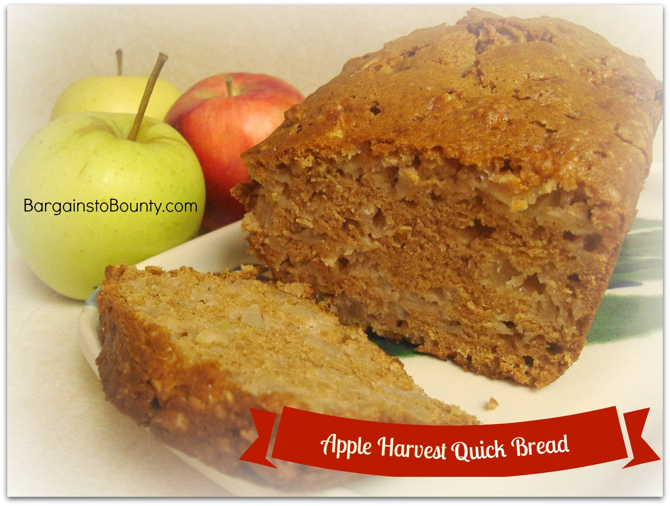 Apple Quick Bread  Recipe Apple Harvest Quick Bread Bargains to Bounty