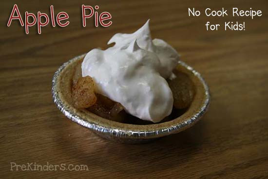 Apple Recipes For Kids  No Cook Apple Pie for Kids to Make