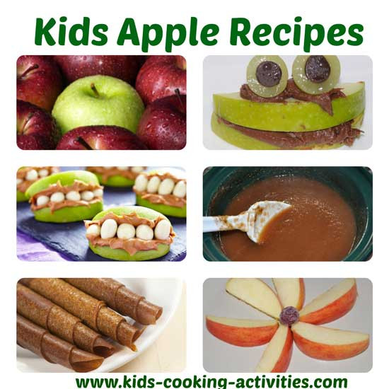 Apple Recipes For Kids  Apple recipes for kids seasonal cooking activities