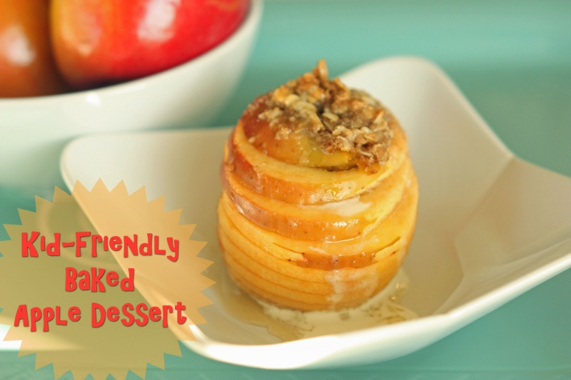 Apple Recipes For Kids  Kid Friendly Baked Apple Dessert