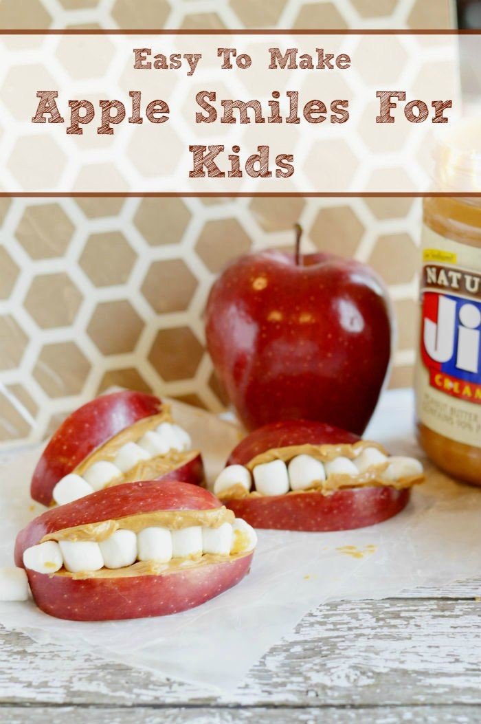 Apple Recipes For Kids  Easy To Make Apple Smiles For Kids