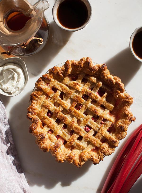 Apple Rhubarb Pie  Rhubarb Apple Pie – A Cozy Kitchen