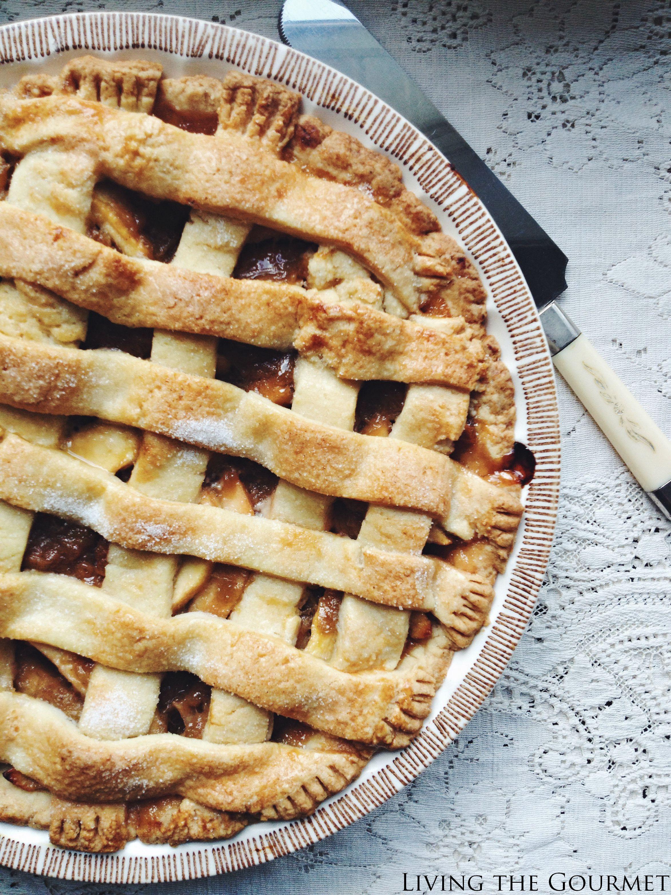 Apple Rhubarb Pie  Apple Rhubarb Pie Living The Gourmet