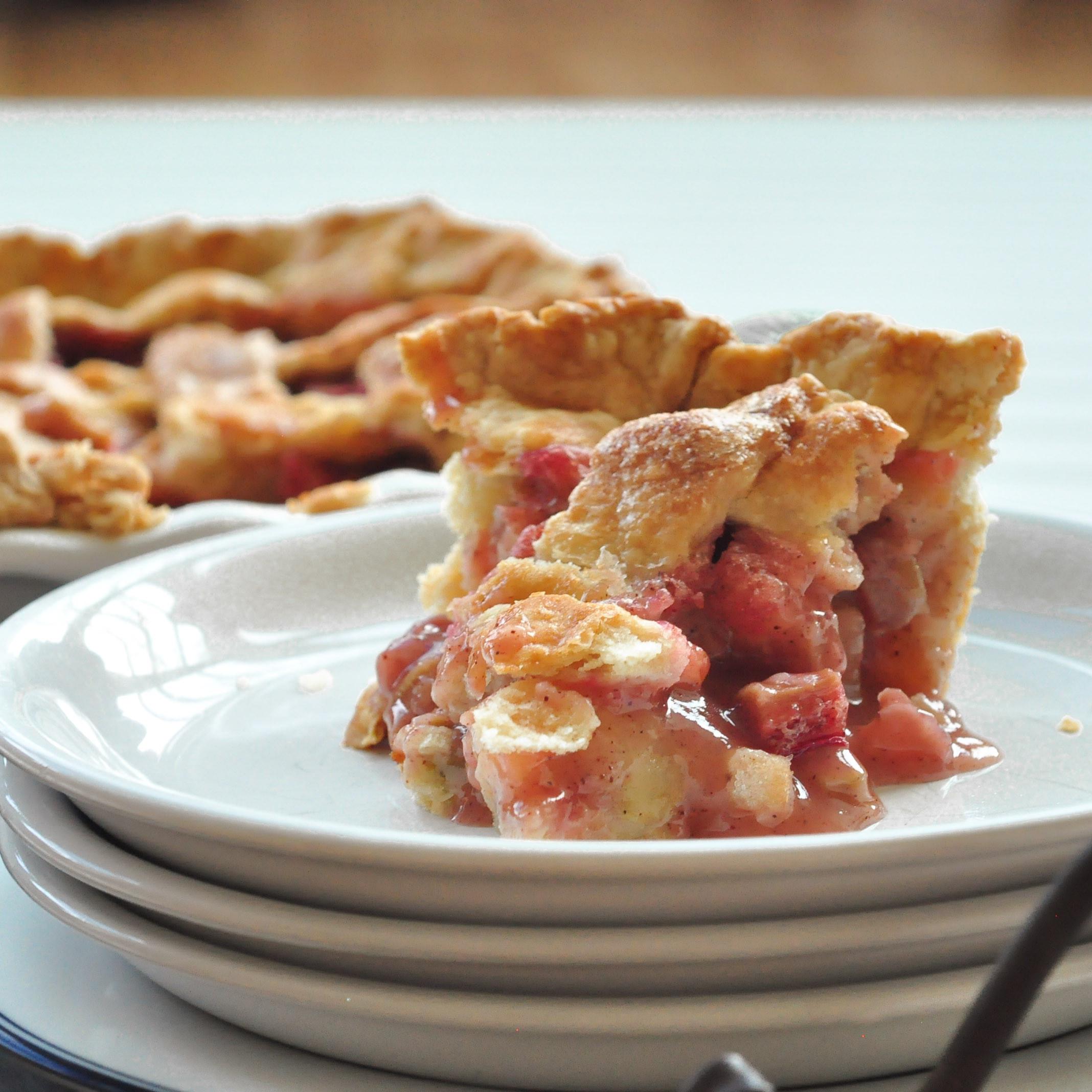 Apple Rhubarb Pie  Apple Rhubarb Pie