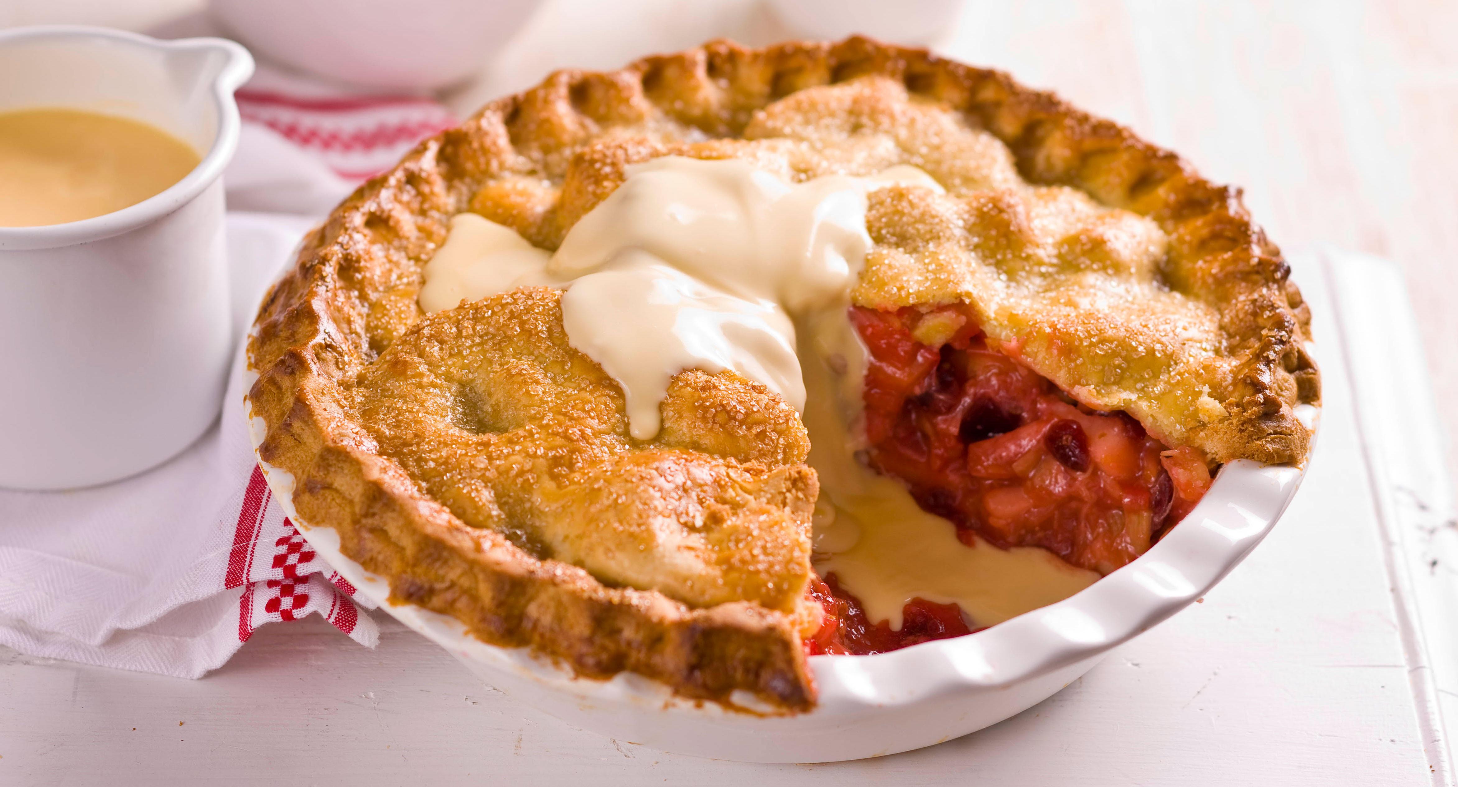 Apple Rhubarb Pie  Double Crusted Apple & Rhubarb Pie