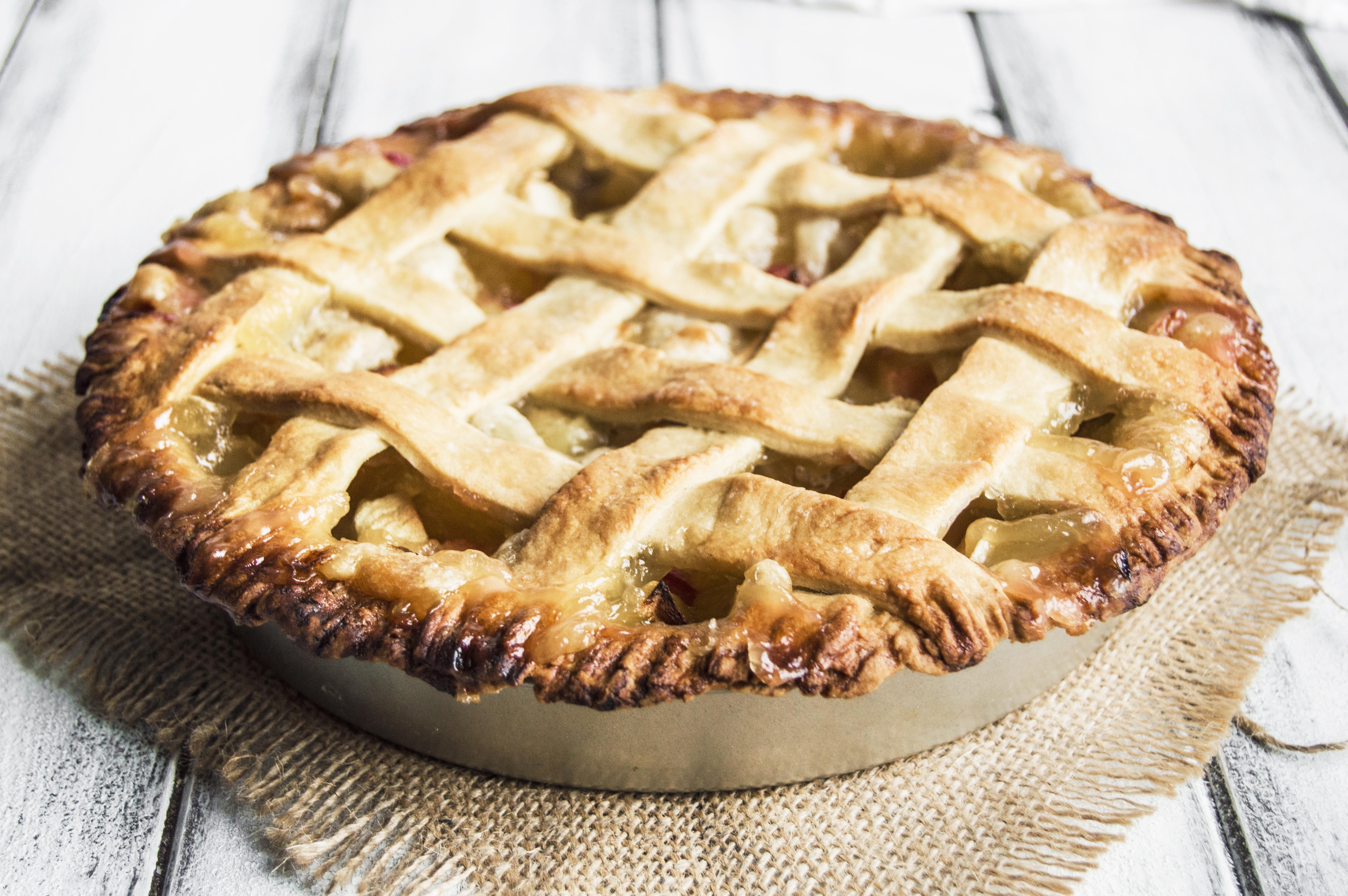 Apple Rhubarb Pie  Vegan Apple Rhubarb Pie My Vibrant Kitchen