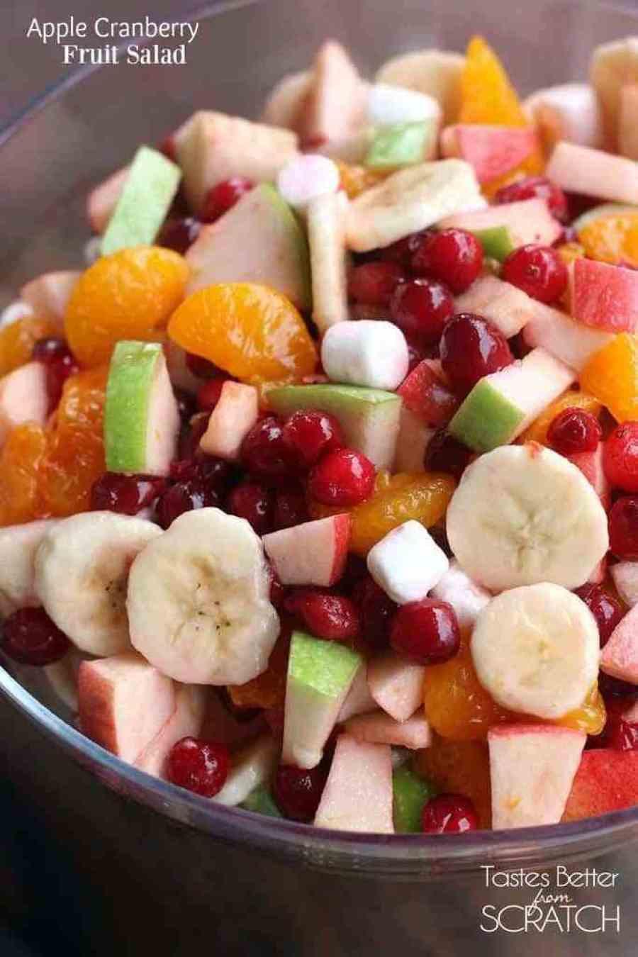 Apple Salad Recipes  Apple Cranberry Fruit Salad