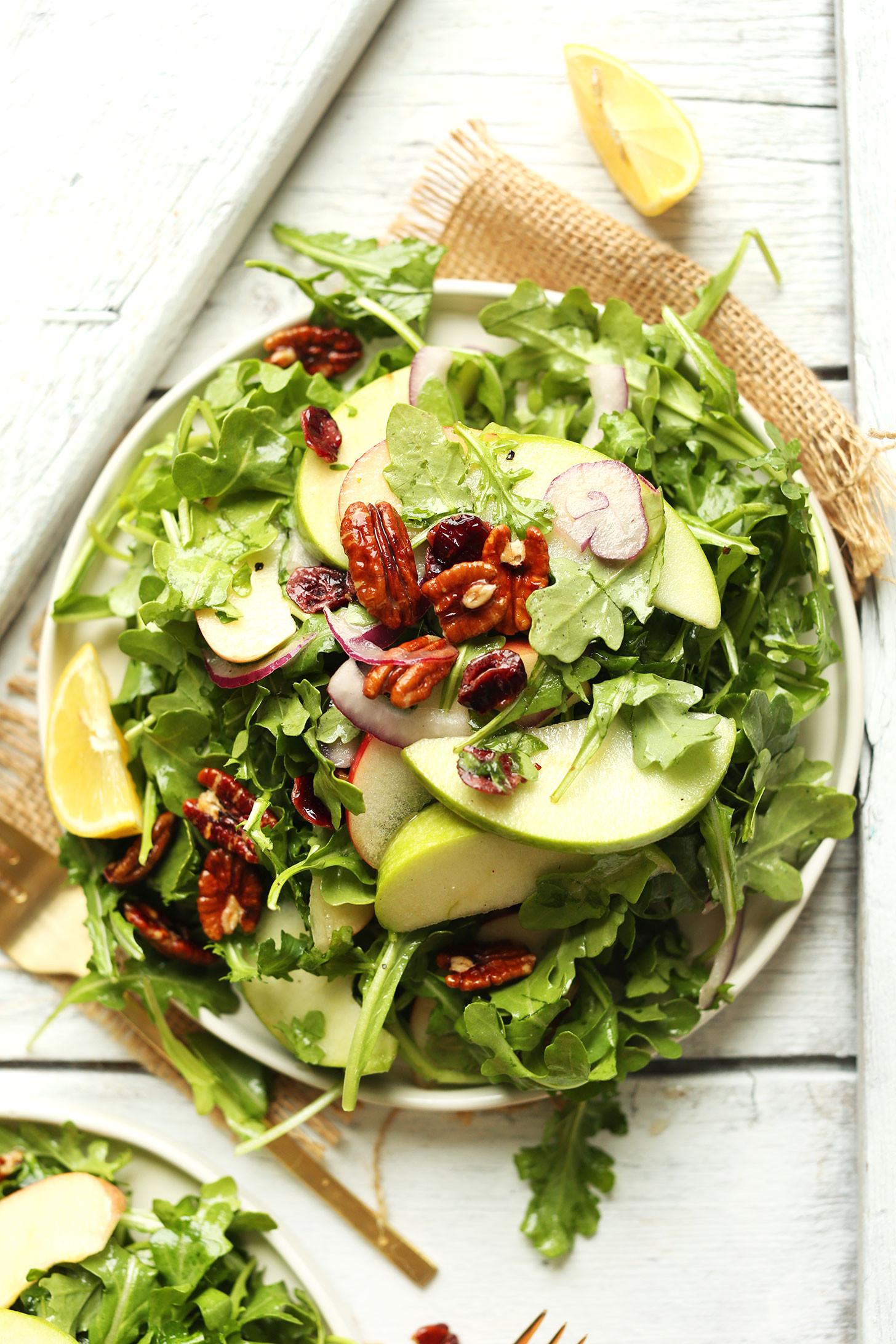 Apple Salad Recipes  Apple Pecan Arugula Salad
