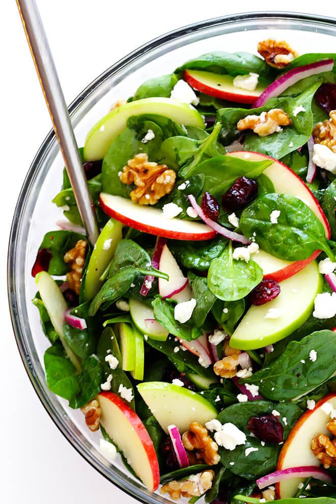 Apple Salad Recipes  spinach apple salad