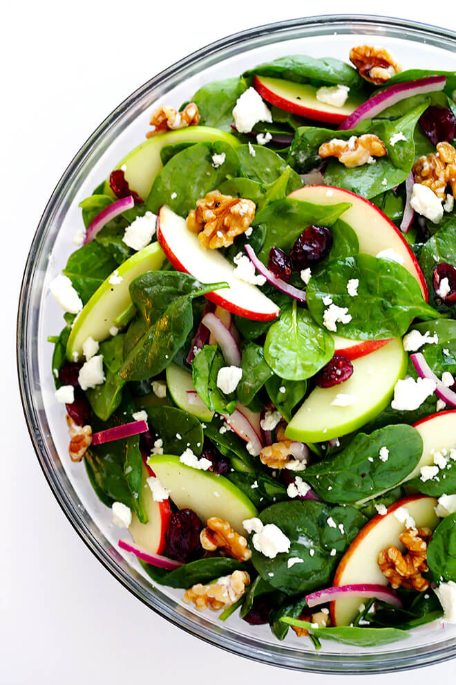Apple Salad Recipes  My Favorite Apple Spinach Salad