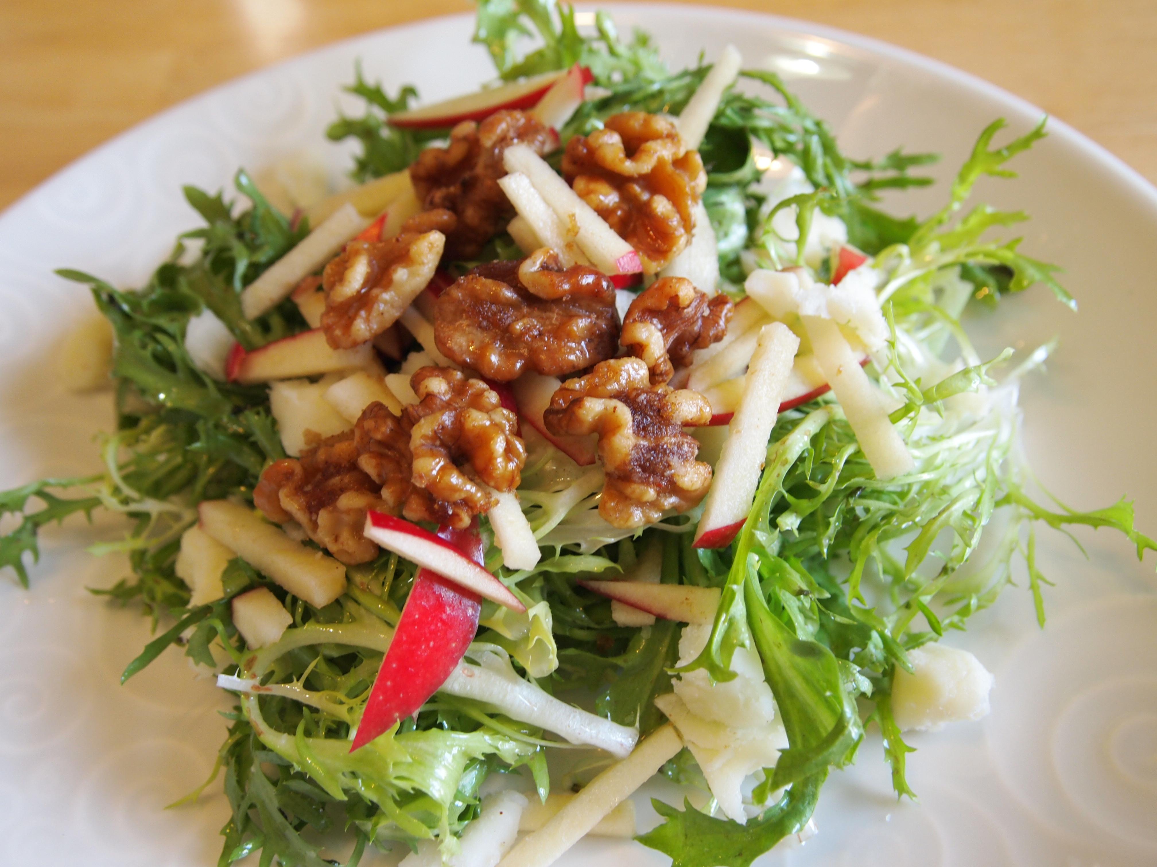 Apple Salad Recipes  Can d Walnut Frisee and Apple Salad Recipe culicurious