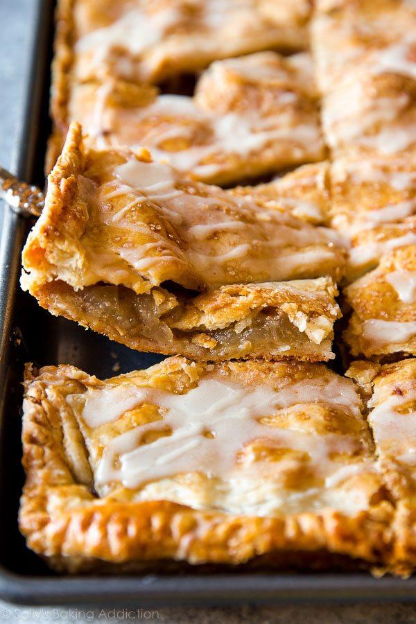 Apple Slab Pie Recipe  Apple Slab Pie with Maple Icing Sallys Baking Addiction