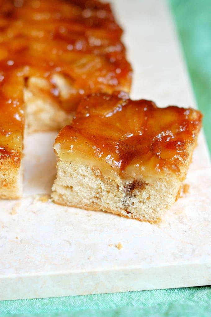 Apple Upside Down Cake  Apple Rum Upside Down Cake Baking Sense
