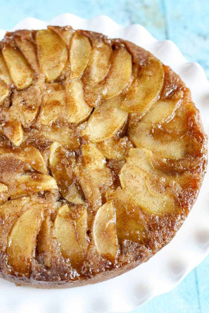 Apple Upside Down Cake  Caramel Apple Upside Down Cake