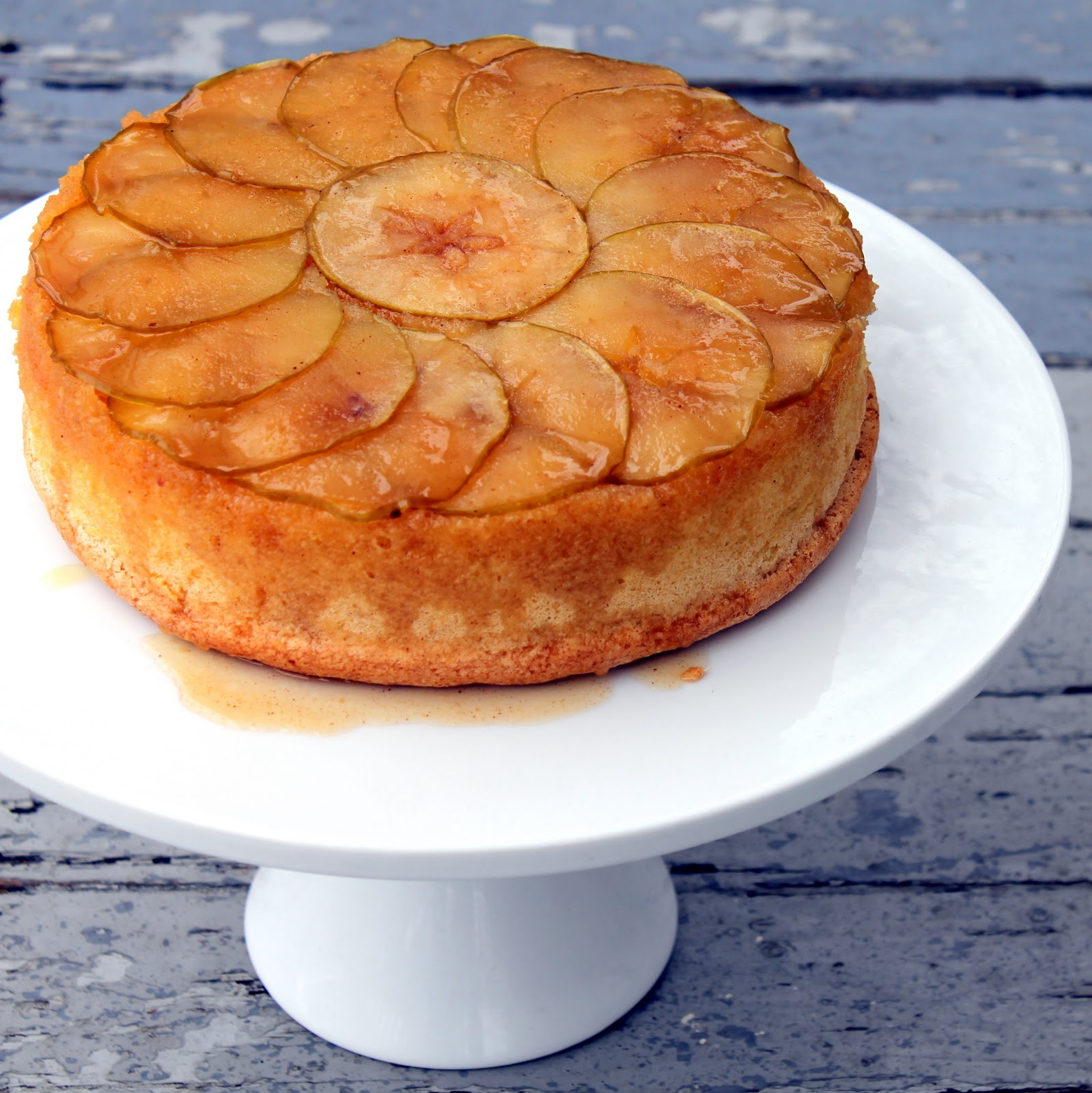 Apple Upside Down Cake  Cherry Tea Cakes Apple Upside Down Cake