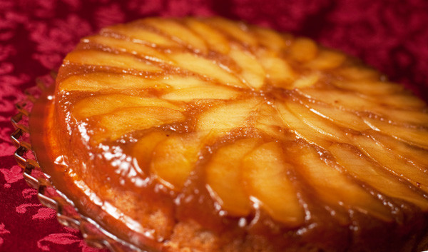 Apple Upside Down Cake  Bran d Apple Upside Down Cake recipe
