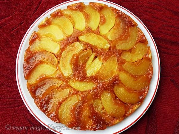Apple Upside Down Cake  Apple Upside Down Cake Vegan Recipes Vegan Magic