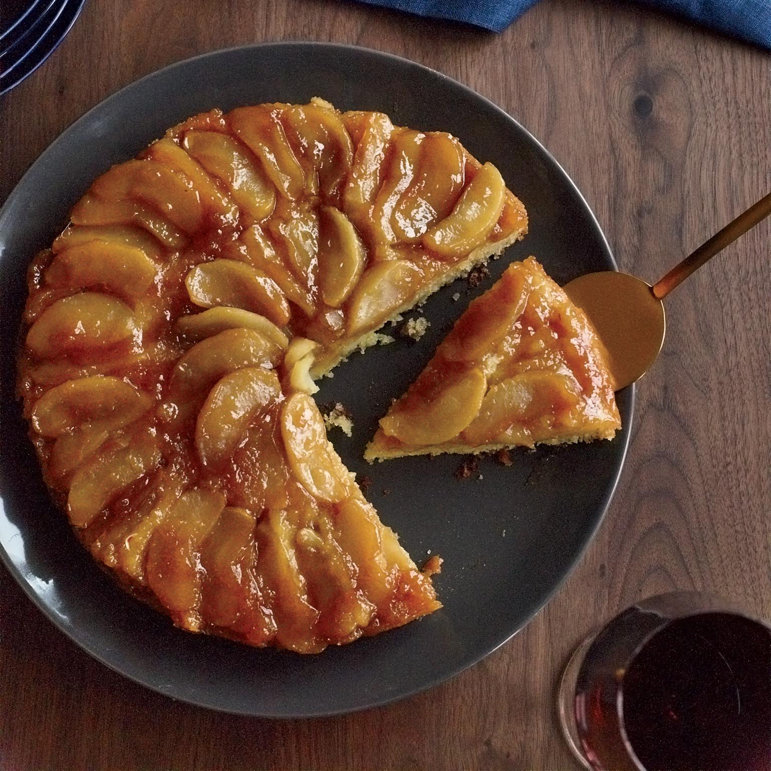 Apple Upside Down Cake  Maple Apple Upside Down Cake Recipe Joanne Chang