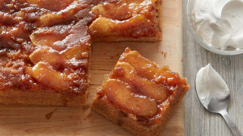 Apple Upside Down Cake  Caramel Apple Upside Down Cake Recipe BettyCrocker