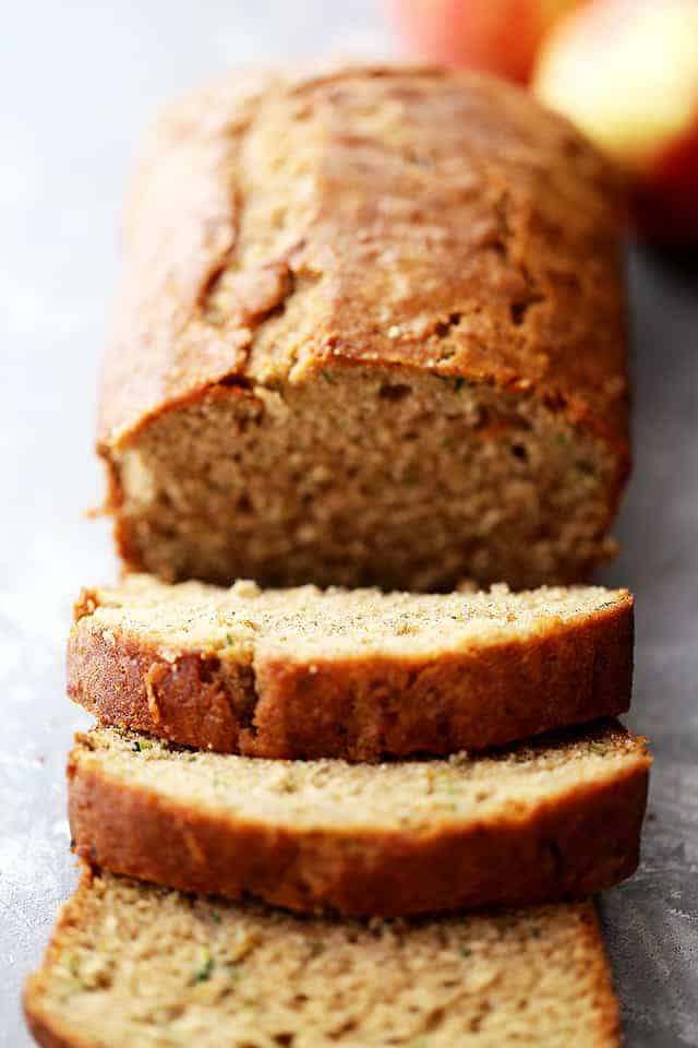 Apple Zucchini Bread  Healthy Apple and Zucchini Bread Diethood