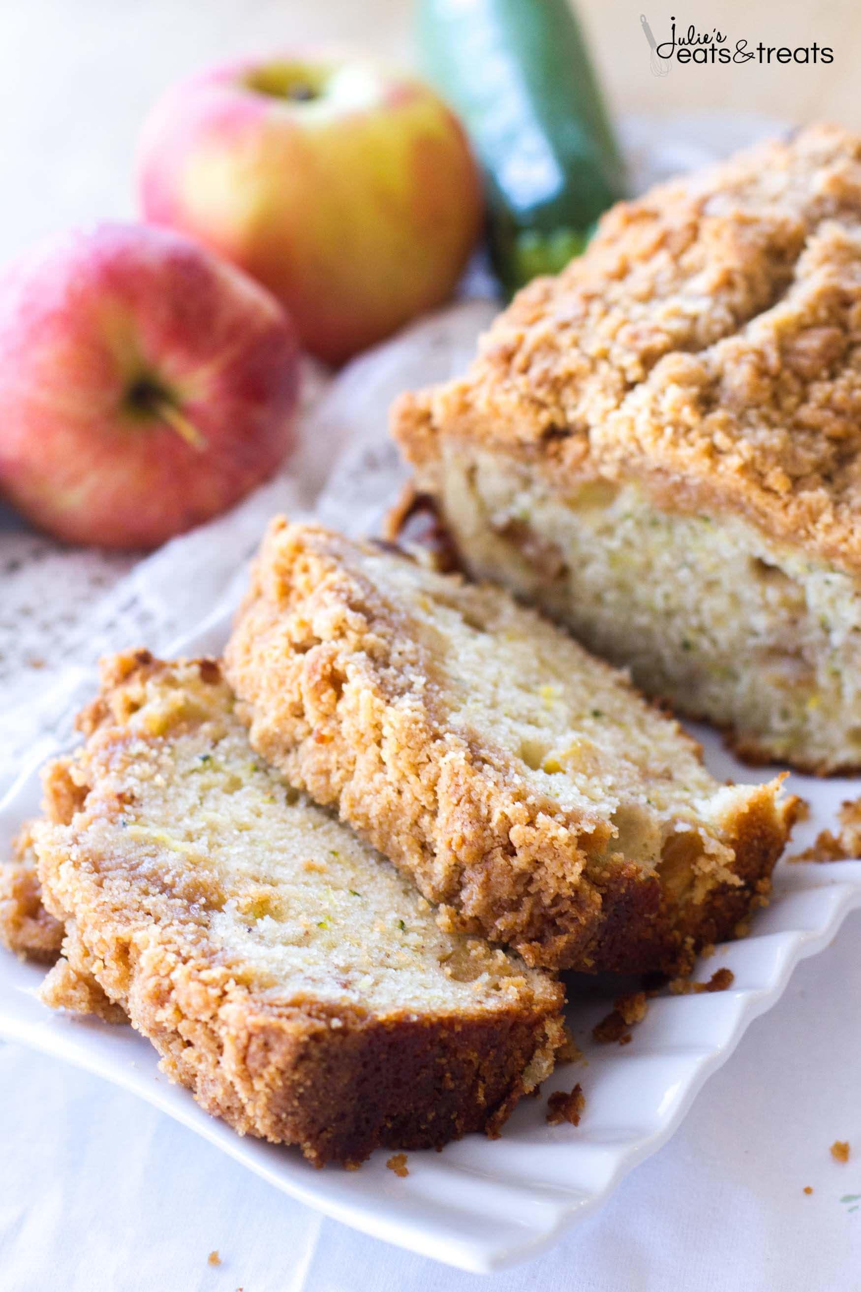Apple Zucchini Bread  Crumb Apple Zucchini Bread Julie s Eats & Treats