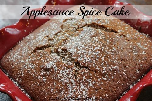 Applesauce Cake Recipe  Easy Apple Recipes Applesauce Spice Cake e Hundred